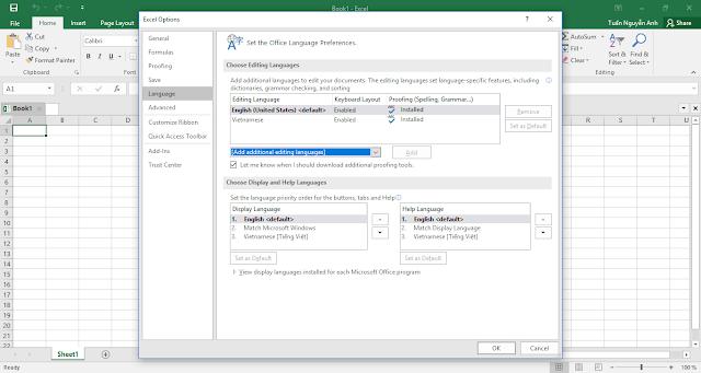Cách thiết lập ngôn ngữ khác ngoài ngôn ngữ mặc định trong Office 2016 Volume Licensing