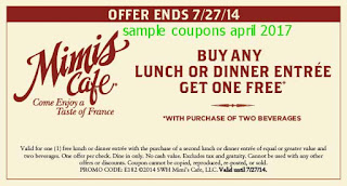 Mimis Cafe coupons for april 2017