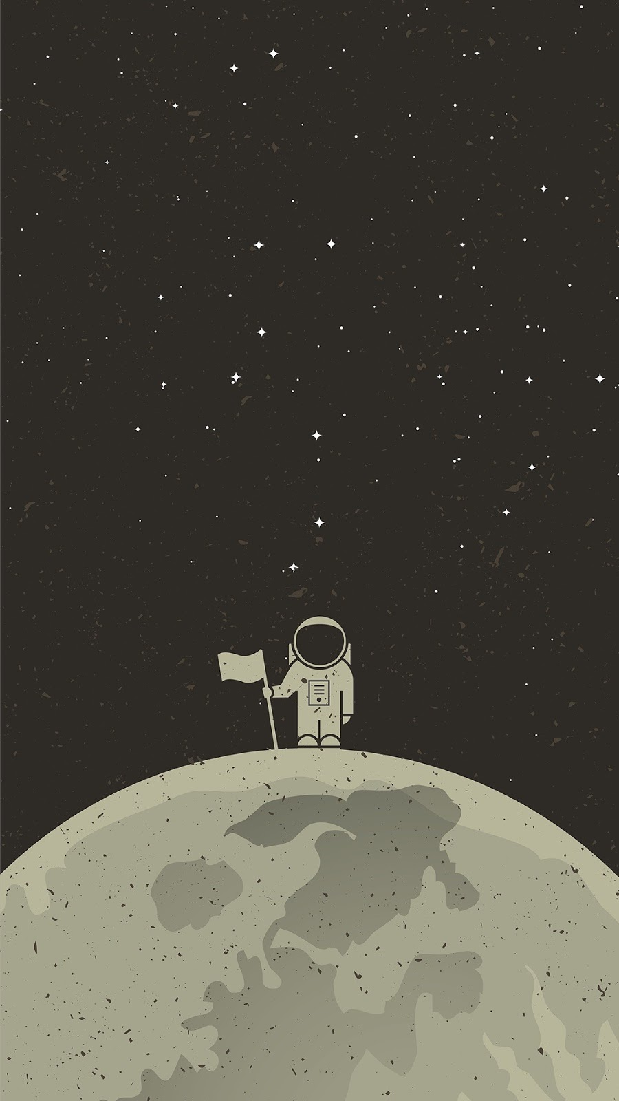 Astronaut in the moon