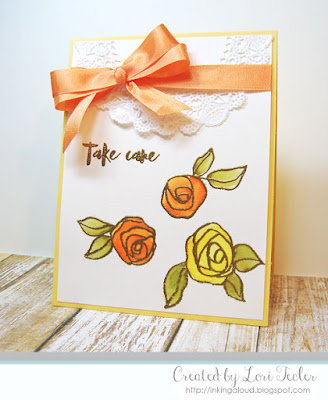 Take Care card-designed by Lori Tecler/Inking Aloud-stamps from Altenew
