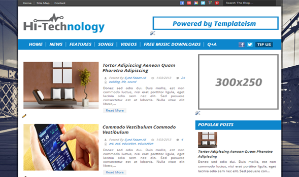 Hi-Technology Blogger Template