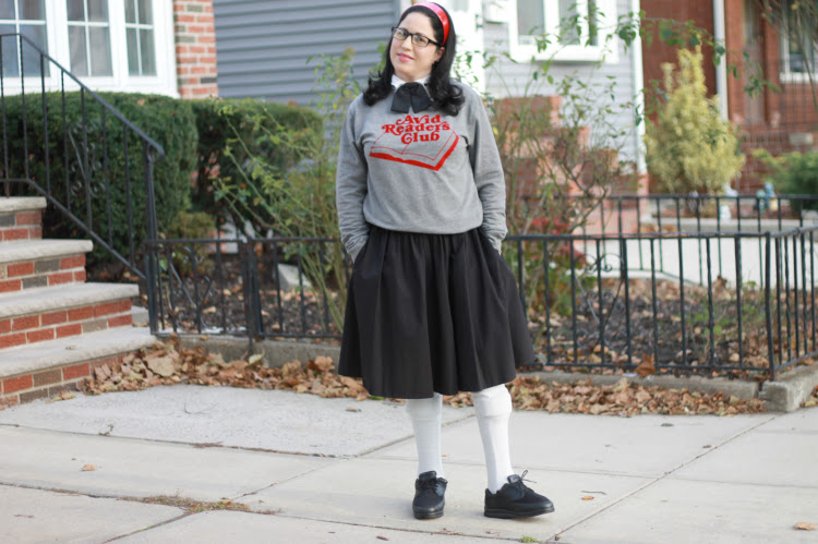 A Vintage Nerd, Retro Fashion Inspiration, Nerd Fashion, Joanie Clothing, Avid Readers Club Top, Retro Fashion Blog