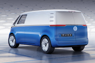 Volkswagen ID Buzz Cargo Concept (2018 Rendering) Rear Side