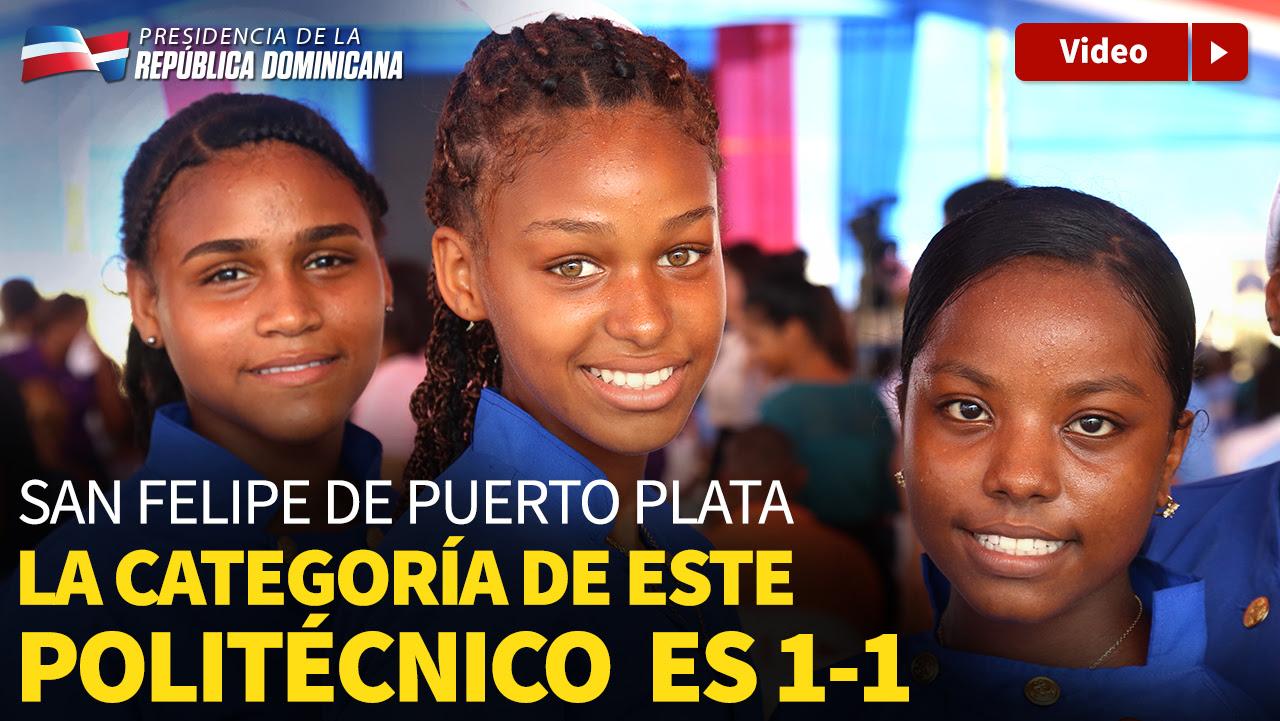 VIDEO: Estudiantes de El Javillar, Puerto Plata, reciben Politécnico