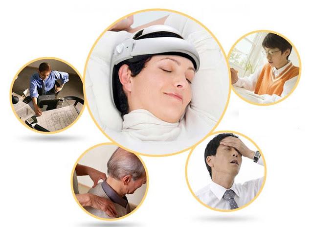 Máy massage da đầu giải quyết mọi vấn đề đau nhức chỉ sau 15p thư giãn