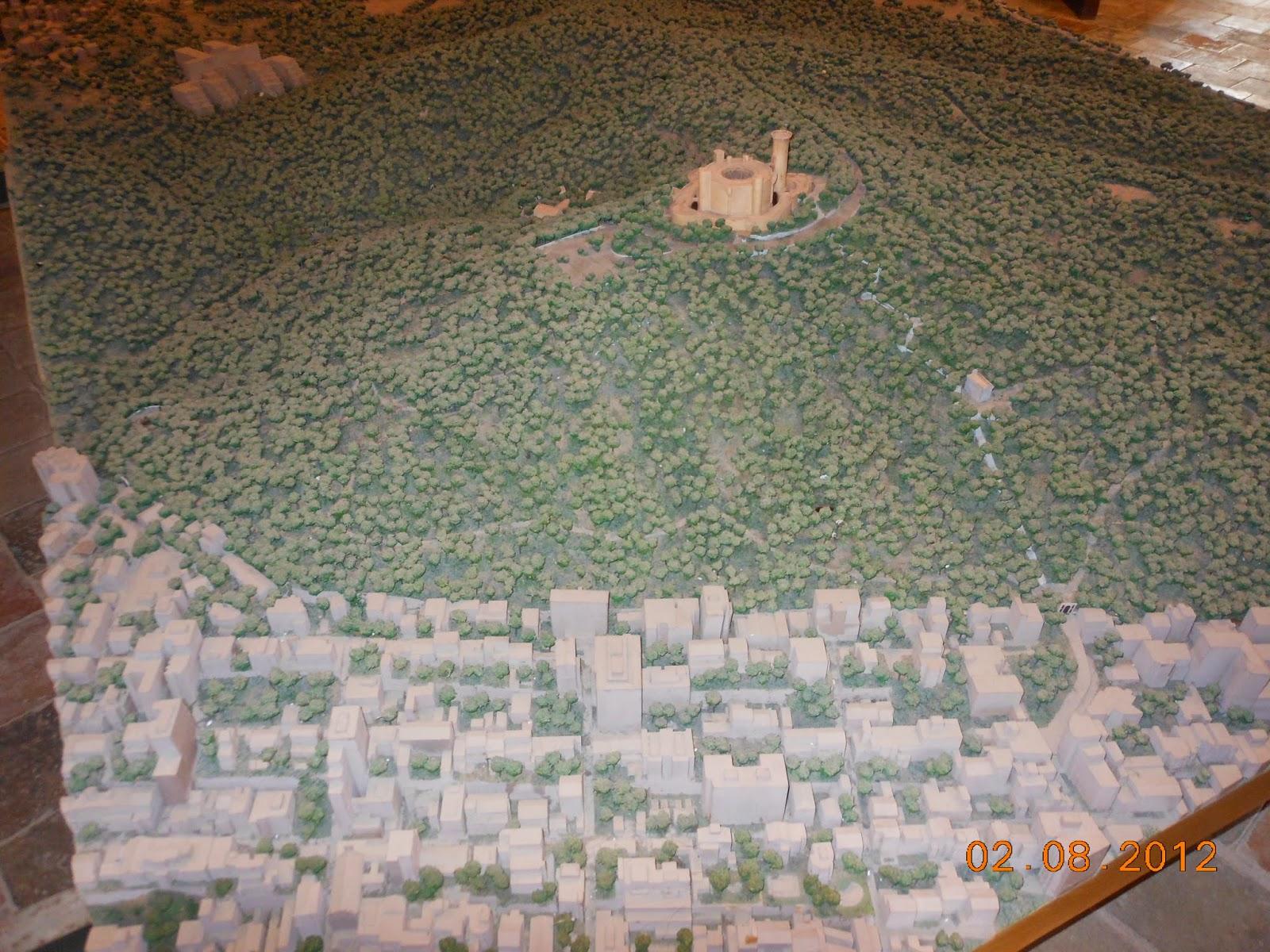 Maquete do castelo Bellver - Palma de Maiorca - Espanha
