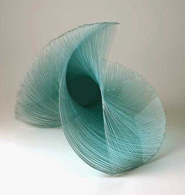 Sculpture Art Glass Plates