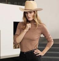 Cowboy hat by Ken Lee Custom hats in Vogue Spain Magazine on model