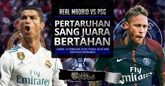 Prediksi Real Madrid Vs Paris Saint Germain, Kamis 15 February 2018 Pukul 02.45 WIB @ SCTV