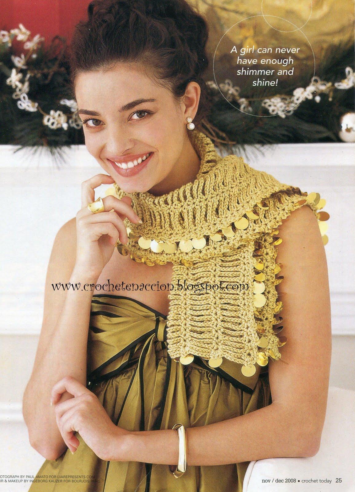 Chalina Crochet con Lentejuelas