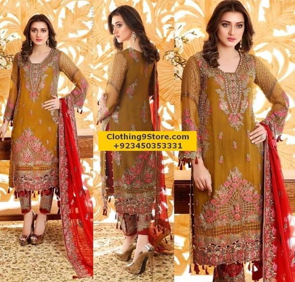 Pakistani Party Wear Dress Designs Pictures