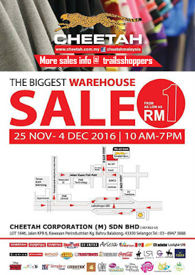 Cheetah Warehouse Sale 2016