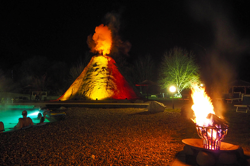 Rogner Bad Blumau bei Nacht