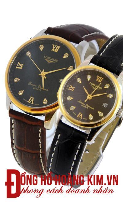 đồng hồ đôi dây da cao cấp
