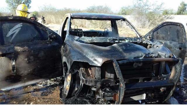 "Revientan camioneta blindada ""quedó reducida a cenizas"" tras enfrentamiento entre grupos rivales en Sinaloa"