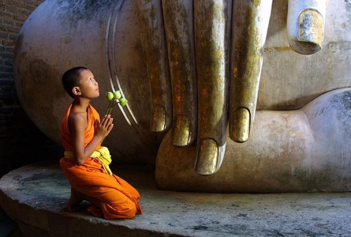 Cầu Trời, khẩn Phật