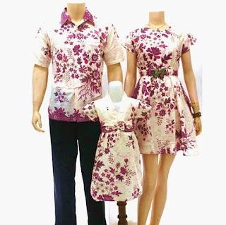 model baju batik sarimbit keluarga elegan