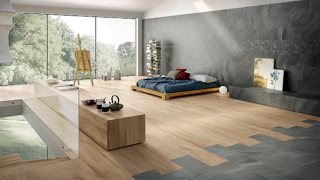 Modern floor tiles design with Portraits