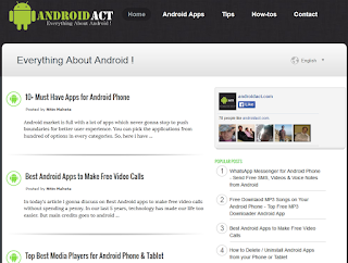 Android Act Blogger Template