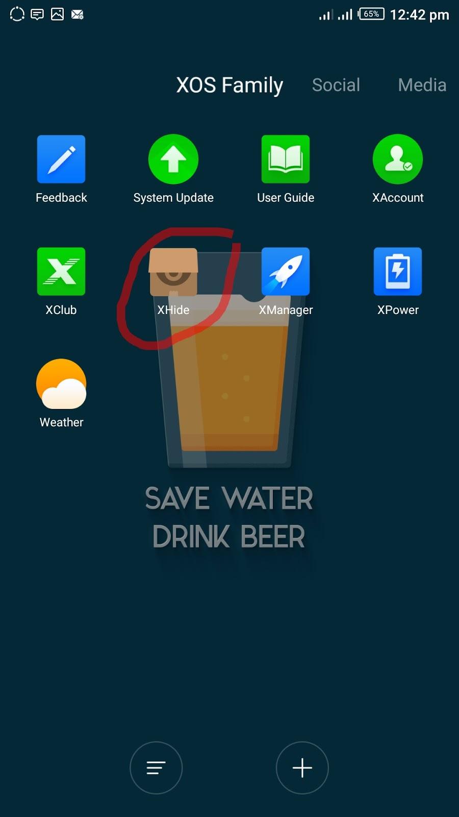 List of XOS Apps.