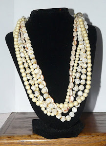 Vintage Cream Cascade Necklace