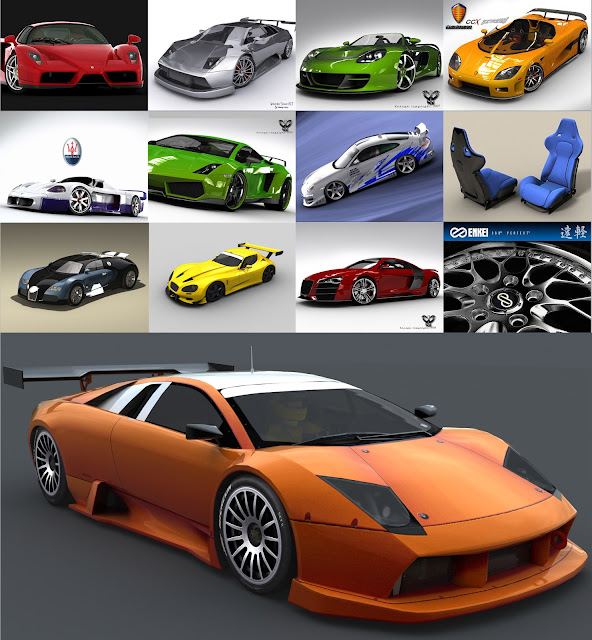 3dsMax高精度7G汽車3D模型合集下載