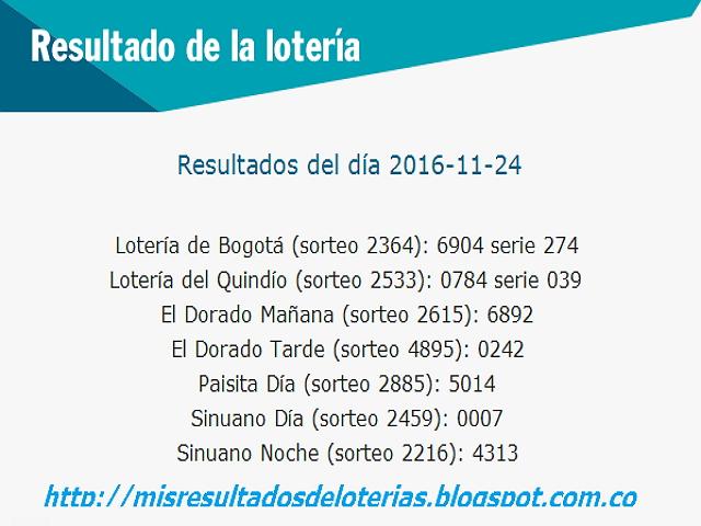 Secretos para ganar la Loteria-resultados-noviembre-4-2016