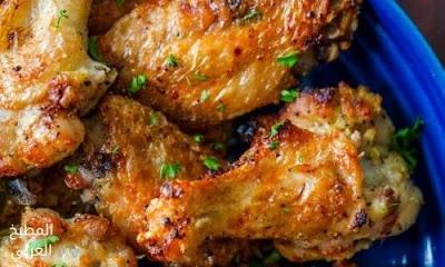 أجنحة الدجاج تتبيلة دجاج في القلاية الهوائية