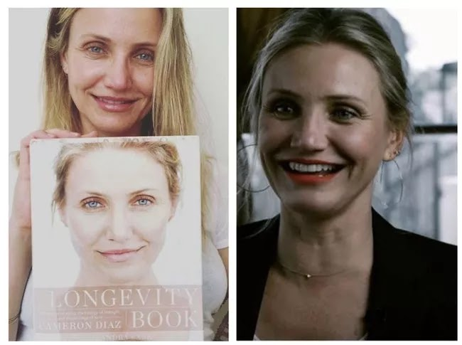 24 Pictures Of Famous Women With And Without Makeup - Cameron Diaz
