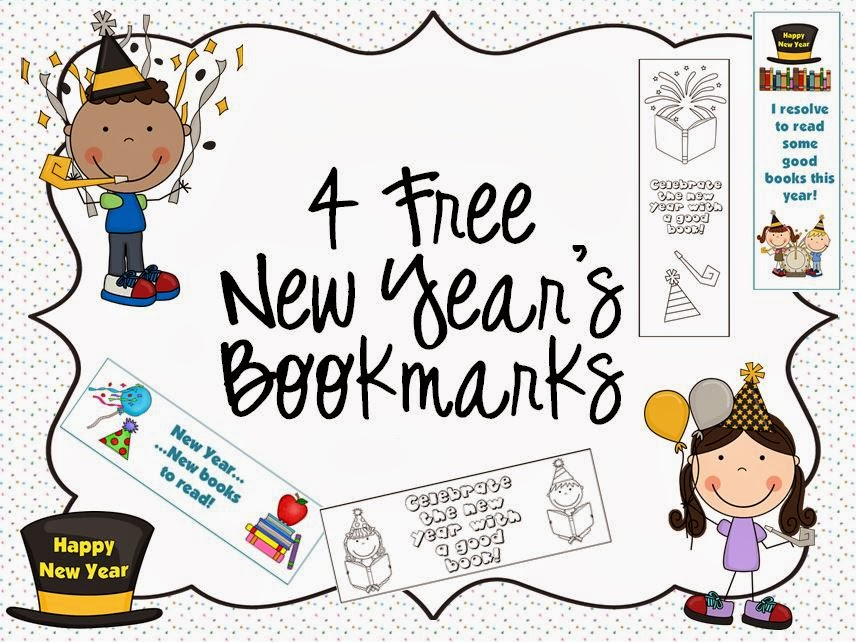 http://www.teacherspayteachers.com/Product/4-Free-New-Years-Bookmarks-1039992