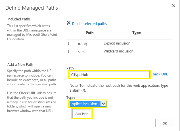 content type hub sharepoint 2013 web application