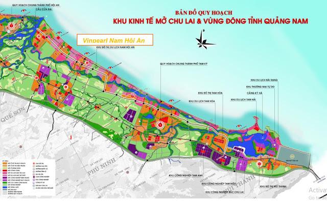 Bảng đồ quy hoạch Vinpearl Nam Hội An