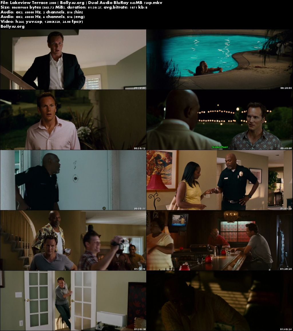 Lakeview Terrace 2008 BluRay 350MB Hindi Dual Audio 480p Download