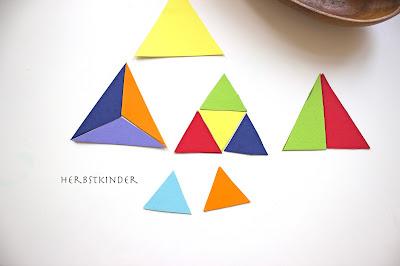Montessori Konstruktive Dreiecke Irina Brand Kleine Dreieck und seine Freunde