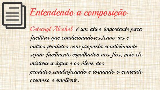 cetearyl alcohol produtos de cabelo