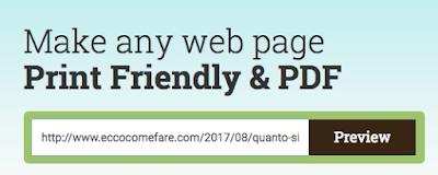 stampare parte di pagina web