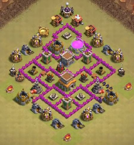 clash of clans th6 war base