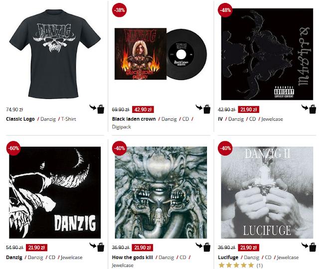 Danzig - koszulki i płyty