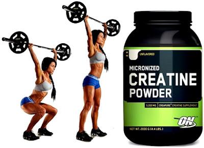 Creatina mujeres pesas masa muscular