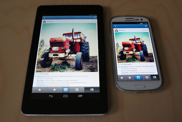 pantalla Nexus 7 vs pantalla Galaxy S3