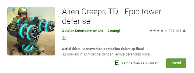 Game Strategi Android Terbaik Alien Creeps TD