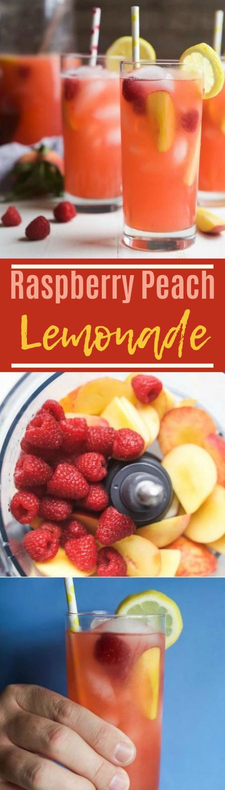 Raspberry Peach Lemonade #summer #drinks