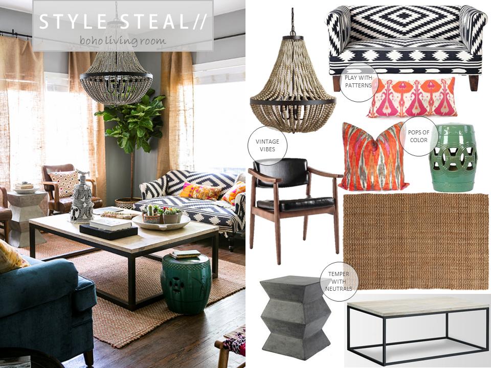 Strange Boho Beach Bungalow Style Steal 5 Boho Living Room Evergreenethics Interior Chair Design Evergreenethicsorg