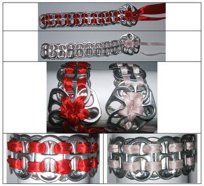 Mi bisuter a y otras manualidades pulseras con chapas o anillas de latas de refresco - Manualidades con chapas de refrescos ...