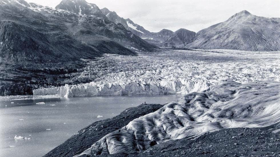 Plateu Glacier (1961) - Photos of Alaska Then And Now. Get Ready to Be Shocked When You See What it Looks Like Now.