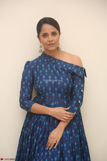 Anchor Anasuya in a Blue Gown at Jai Lava Kusa Trailer Launch ~  Exclusive Celebrities Galleries 005.JPG