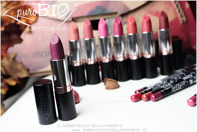 lipstick n 05 ,  rossetti purobio , lipstick, vegan makeup, bio makeup