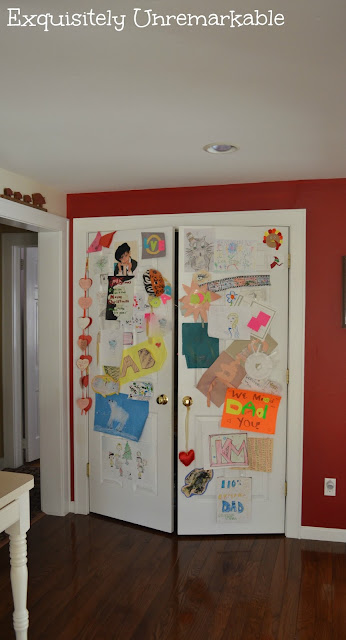 Displaying Children's Artwork In The Kitchen