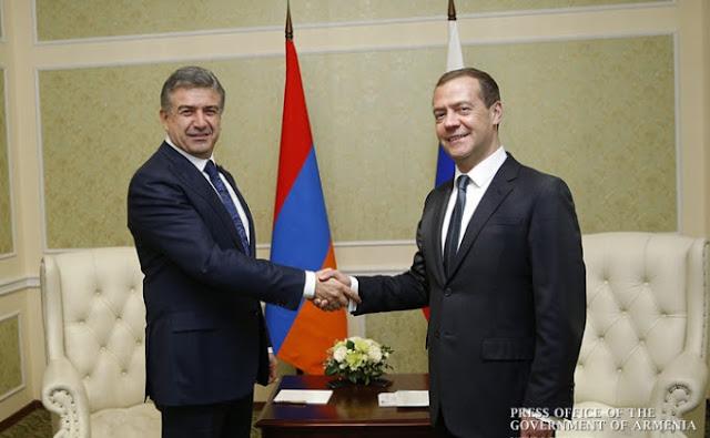 Primer ministro ruso visita Armenia