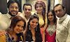 Shama Sikander with her friends and family